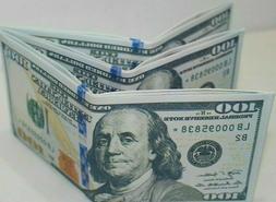 $100 DOLLAR BILL NOVELTY WALLET MONEY 3x6x12 PCS Printed Sli