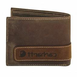 CARHARTT 61-2204-20 Bi-Fold Wallet,Leather, 3-1/2 in. L