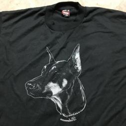 90s VTG nos FRUIT of The LOOM BEST DOBERMAN Dog Novelty XL 5