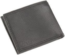 New-Levi's Leather Bifold Zipper Wallet-Black.