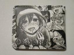 anime ahegao mens wallet novelty gift/FREE RANDOM KEYCHAIN