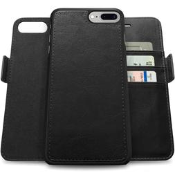 Apple iPhone X/8/7 Plus Genuine Leather Wallet Case with RFI