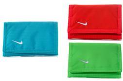 Nike Basic Swoosh Wallet Tri-Fold Red Blue Green Mens Womans