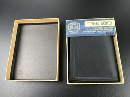 beautiful black Trifold wallet cherokee new in box Christmas