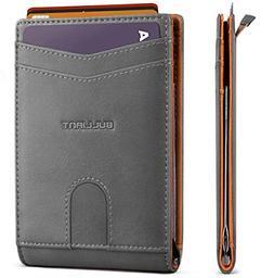 best slim wallet front pocket money clip