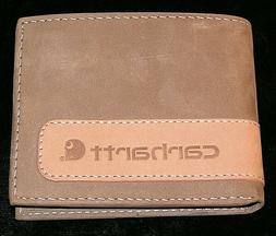 CARHARTT Bi-Fold Men's Wallet, Soft Leather, Light Brown Bra