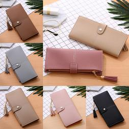 Bifold Leather Wallet for Women Soft Slim Clutch Credit Card