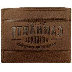 Carhartt Bifold Wallet Men's Leather Wallet Passcase Billfol
