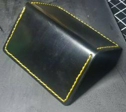 Black Shell Cordovan Dr. Martens inspired EDC wallet card ho