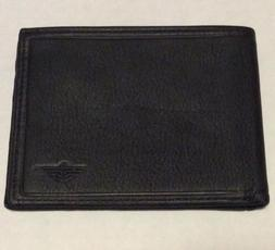 Dockers Black Top Grain Leather Bi Fold Wallet