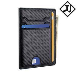 Bulliant Skinny Minimal Thin Pocket Wallet For Men RFID Bloc