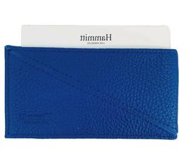 HAMMITT CAPRI ELECTRIC BLUE LEATHER CREDIT BUSINESS CARD CAS