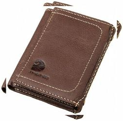 Carhartt Men's Trifold Wallet One Size, Pebble Brown