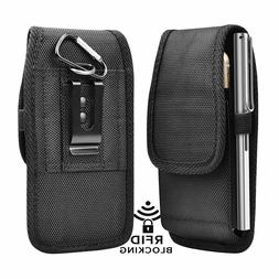 Cell Phone Holster Pouch Universal Nylon Wallet Carrying Cas
