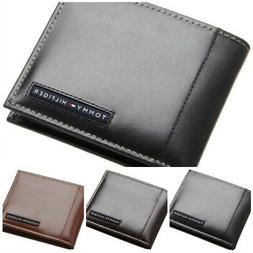 Tommy Hilfiger Classic Men's Bifold Leather Passcase Wallet
