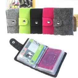 CLEARANCE Felt Card Holder. Holds 24 Cards Purse Wallet Hand