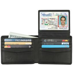 Credit Card Holder Leather Rfid Blocking For Men Bifold Styl