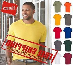 Hanes Ecosmart Mens Short Sleeve Blank 50/50 T Shirt 5170 up
