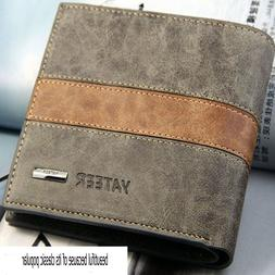 Fashion Men's Leather Bifold Wallet ID/Credit Card Holder Cl