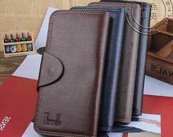 Fashion Men's  Leather Long Wallet Pockets ID Card Clutch Ce