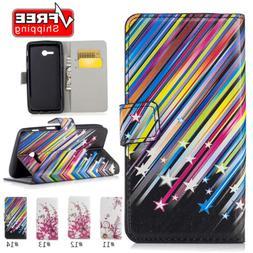 Fashion Simple Pattern Flip Card Magnetic Wallet Bracket Pho