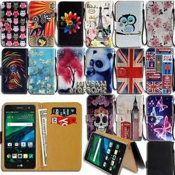 Folio Leather Stand Wallet Card Cover Case For Various LG Sm