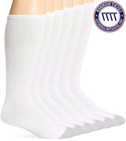 Fruit Of The Loom Mens Over The Calf Socks, 2 Pk , White, 6-