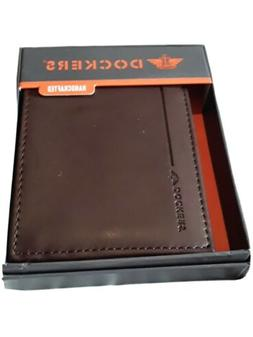 Dockers Full Grain Leather Brown Tri-Fold Wallet