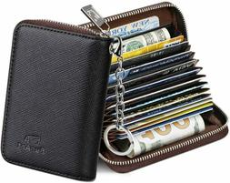 FurArt Credit Card Wallet, Zipper Card Cases Holder for Men