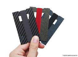 Genuine Carbon Fiber Front Pocket Minimalist Mens Thin Walle