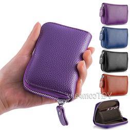 Genuine Leather Credit Card Case Wallet for Men or Women Saf