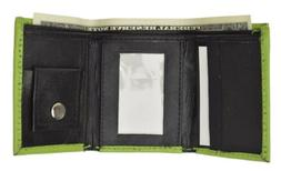 GENUINE LEATHER KIDS SMALL TRIFOLD/MONEY WALLET BY MARSHAL L