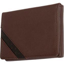 Genuine Leather Mens Bifold Wallets Slim Dual Tone With ID W