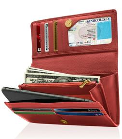 Genuine Leather Wallets For Women's Ladies Wallet Clutch Acc
