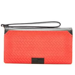 Vegan Leather Wallets For Womens - Ladies Accordion Clutch W
