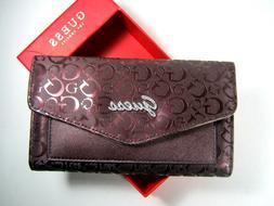 Guess Gleeson SLG FX707951 Bordeaux Wallet Woman Clutch Trif