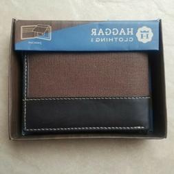 Haggar Leather Passcase Wallet