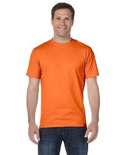 Hanes Heavyweight 50/50 Orange Safety Work Short Sleeve T-Sh