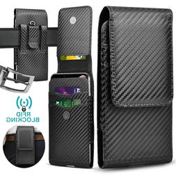 For iphone 11 Pro Max Phone Holster Pouch Leather Wallet Cas