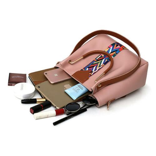 4PCS Set Handbag Shoulder Tote Lady Purse Card Wallets