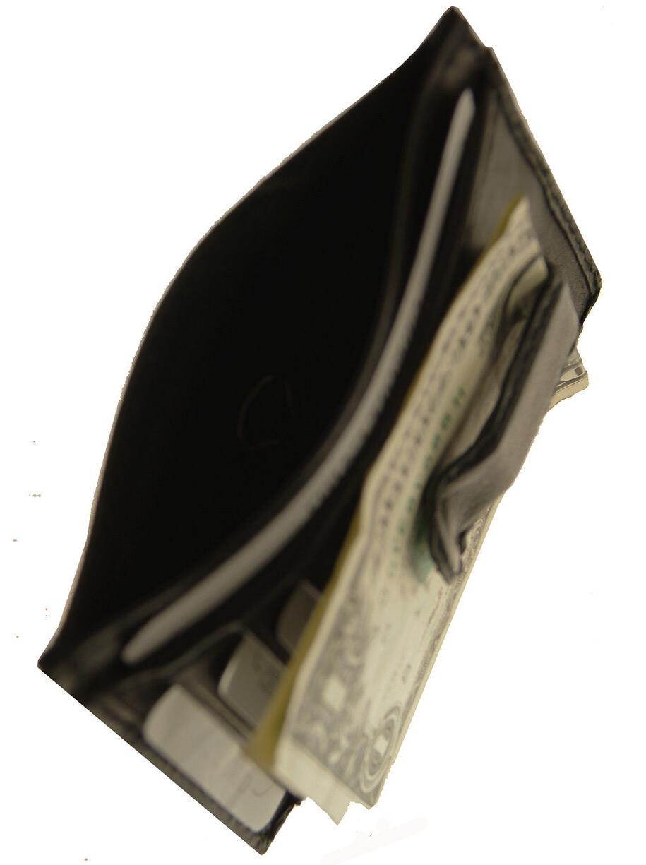 AG Wallets Leather Slim Money Clip Pocket Wallet Holder