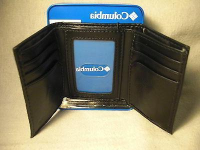 Columbia Black Manmade Trifold Wallet w/6CC Slot