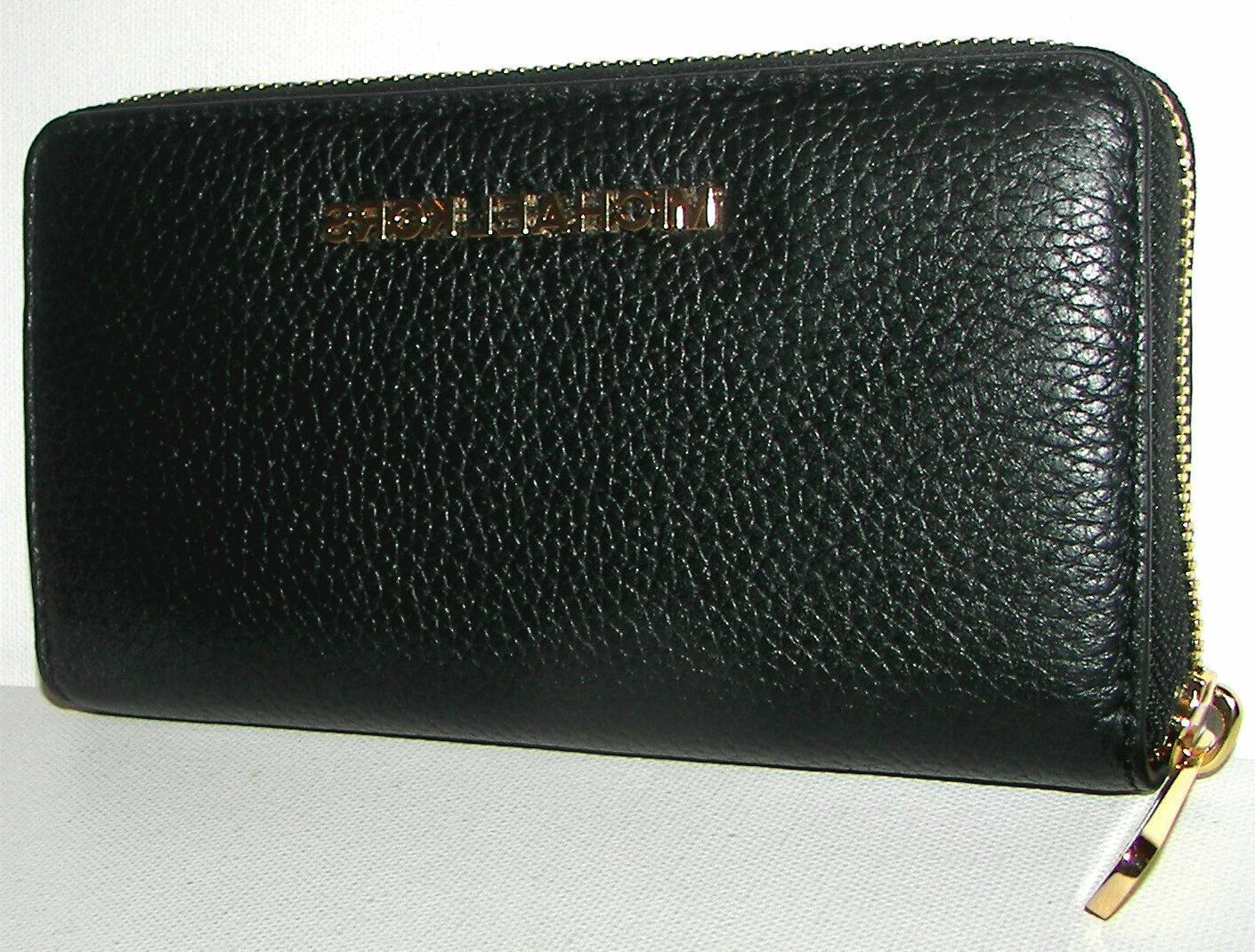MICHAEL Tech Zip-Around Clutch Wallet NWT
