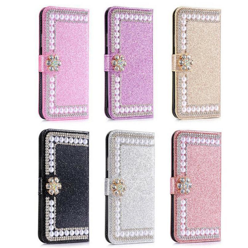 Bling Diamond Wallet Flip Women's Cover Case