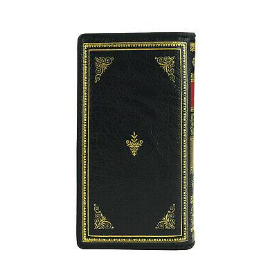 Comeco Women's Book Wealth Wallet - Leather Vintage Look