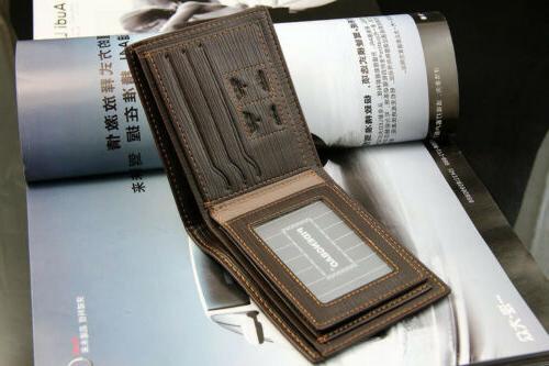 Fashion Men's Bifold Leather Wallet Credit Card Holder
