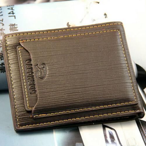 fashion men s bifold leather wallet id
