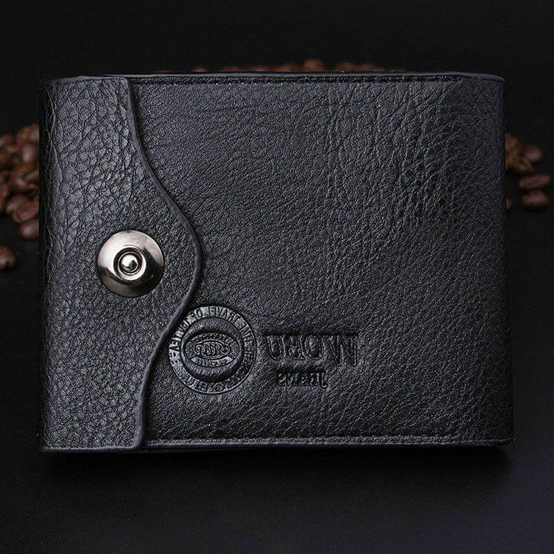Fashion Men's ID Card Holder Purse with Flap Pocket