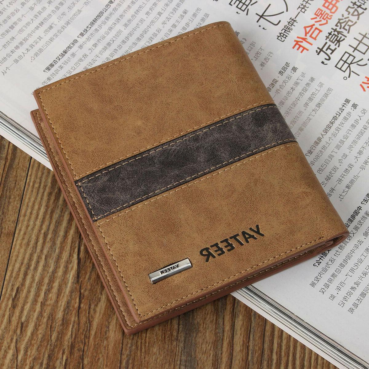 Fashion Bifold Men's Leather Wallet Credit ID Card  Multi Po