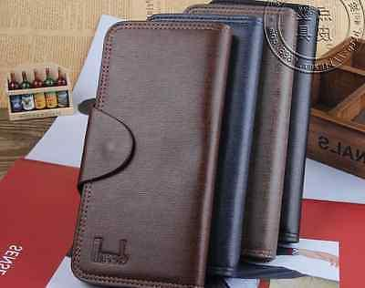 fashion men s leather long wallet pockets